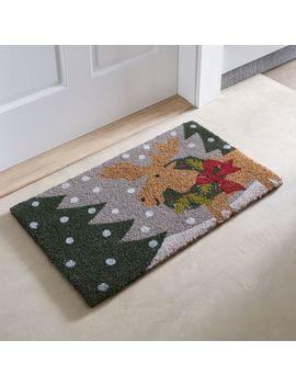 """Holiday Moose Doormat 18""""X30"""" by Crate&Barrel"""