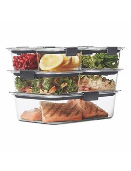 Rubbermaid Brilliance Food Storage Container, 14 Piece Set, 100 Percents Leak Proof, Plastic, Clear by Amazon