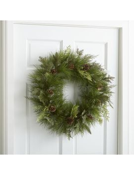 Mixed Pine Wreath by Crate&Barrel