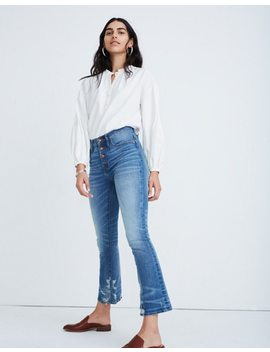 Cali Demi Boot Jeans In Bess Wash: Button Front Edition by Madewell