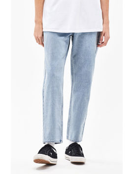 Pac Sun Light Baggy Taper Jeans by Pacsun