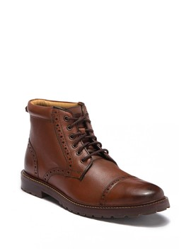 Fenway Burnished Leather Cap Toe Boot by Florsheim
