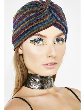Groovy Vibez Shimmer Stripe Hat by Jeanne Simmons