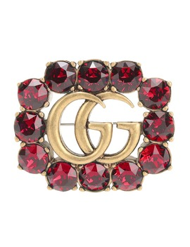 Crystal Embellished Brooch by Gucci
