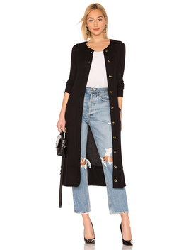 Long Sleeve Button Front Duster With Pockets by Chaser