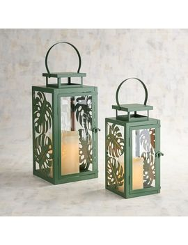 Mariah Metal Leaves Lanterns by Pier1 Imports