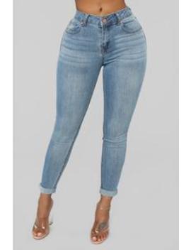 Back At You Ankle Jeans   Light Blue Wash by Fashion Nova