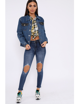 Blue Distressed Extreme Rip Jeans   Geanna by Rebellious Fashion