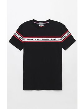 Tommy Jeans Tape T Shirt by Pacsun