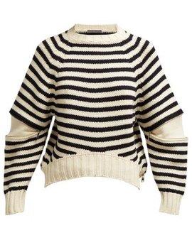 Slash Sleeve Wool Knit Sweater by Alexander Mc Queen