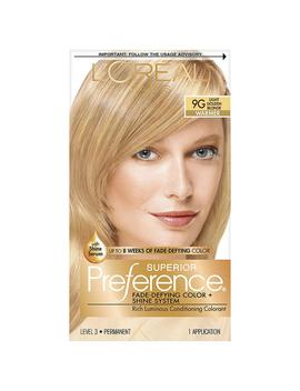 L'oreal Paris Superior Preference Permanent Hair Color,Light Golden Blonde 9 G1.0 Ea by Loreal
