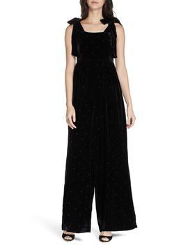 Minnet Dot Velvet Jumpsuit by Ulla Johnson
