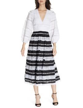 Charline Bicolor Midi Dress by Ulla Johnson