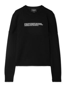 Flocked Cashmere Sweater by Calvin Klein 205 W39 Nyc