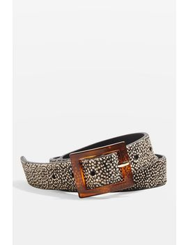 Tortoiseshell Leather Belt by Topshop