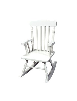 Kids' Colonial Rocking Chair   White by Gift Mark