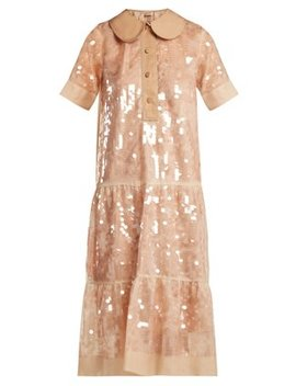 Sequin Embellished Silk Dress by No. 21
