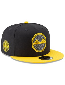 Golden State Warriors New Era 2018 City Edition On Court 9 Fifty Snapback Adjustable Hat – Black by New Era