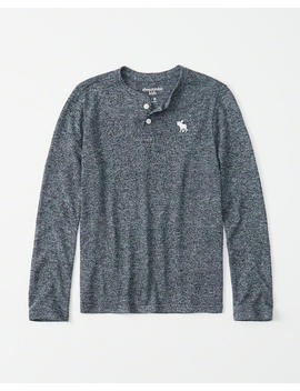 Long Sleeve Knit Icon Henley by Abercrombie & Fitch