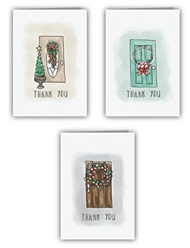 Holiday Door Thank You Cards   24 Cards & Envelopes by Sugartown Greetings