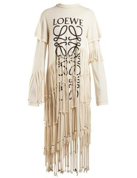Anagram Logo Print Cotton And Silk Blend Dress by Loewe