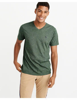 Textured Icon V Neck Tee by Abercrombie & Fitch
