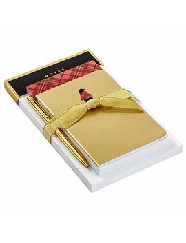 Hallmark Notepad Bundle With Pen, Classic Christmas (3 Notepads, Assorted Sizes) by Hallmark