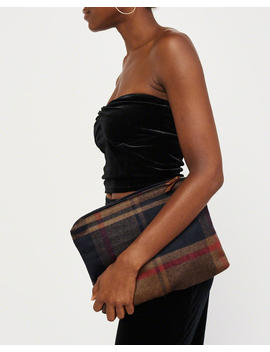 Plaid Wool Blend Clutch by Abercrombie & Fitch