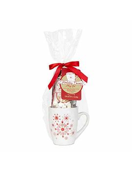 The Lindt Holiday Hot Chocolate Mug Gift Set | Contains Reusable Ceramic Mug, Mini... by Modern Gourmet Foods