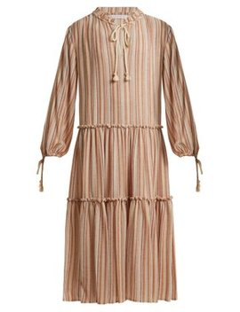 Tiered Striped Gauze Dress by See By Chloé