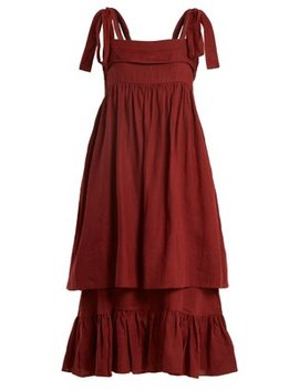 Marianne Sleeveless Linen Midi Dress by Three Graces London