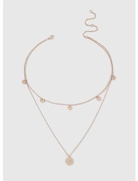 Gold Disc And Coin Multi Row Choker Necklace by Dorothy Perkins