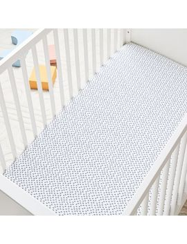 Organic Harmony Crib Fitted Sheet   Nightshade by West Elm