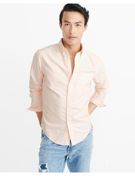 Icon Garment Dye Oxford Shirt by Abercrombie & Fitch