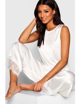 Parure De Pyjama Satin Dentelle Bride by Boohoo