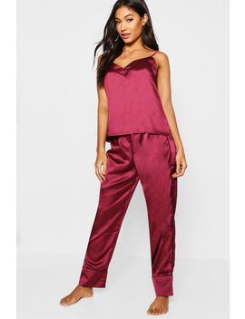 Parure De Pyjama Pantalon & Caraco Passepoilé by Boohoo