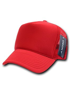 Decky Solid Trucker Cap, Red by Amazon