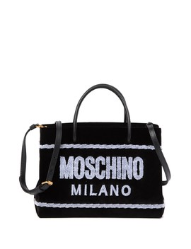Velvet Brand Logo Tote Bag by Moschino