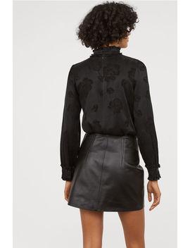 Krótka Spódnica Ze Skóry by H&M