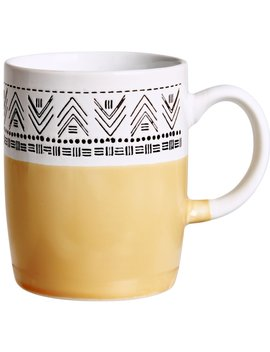 Wilko Mustard Aztec Design Mug Wilko Mustard Aztec Design Mug by Wilko