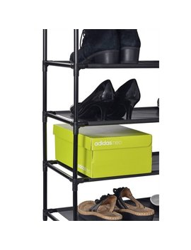 Muscle Rack Sr10 L Blk 10 Level Shoe Rack, Black by Muscle Rack