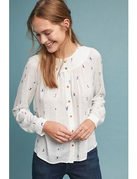 Colloquial Yoked Blouse by Anthropologie