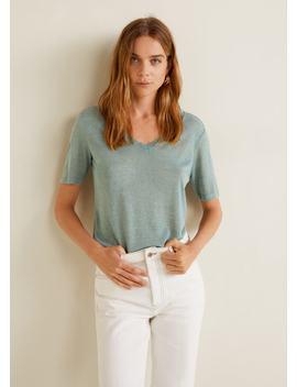 T Shirt En Maille Dévoré by Mango