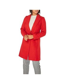 Dorothy Perkins   Red Single Breasted Coat by Dorothy Perkins