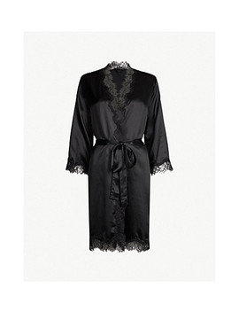Scarlett Silk Satin Dressing Gown by Sainted Sisters