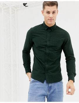 New Look Regular Fit Shirt In Green Check by New Look