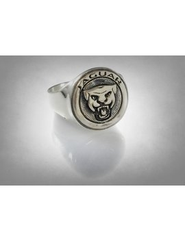Jaguar Cars Limited Logo Ring Solid  Sterling Silver 925 by Etsy