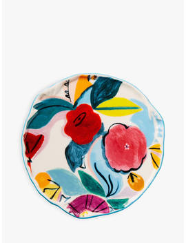 Anthropologie Bebe Floral Ceramic Coaster, Pink/Multi by Anthropologie