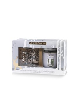 Yankee Candle Snowflake Tumbler Gift Set, Silver Birch by Yankee Candle