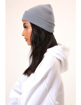 Grey Basic Ribbed Beanie Hat by I Saw It First